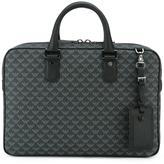 Emporio Armani printed briefcase - men - Polyester/PVC/Polyurethane/Calf Leather - One Size