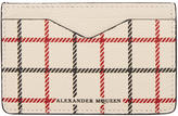 Alexander McQueen Off-White Check Card Holder