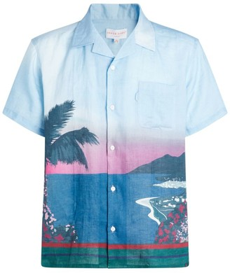 Derek Rose Linen Sunset Coast Shirt
