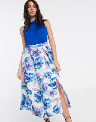 Closet London dress with printed skirt