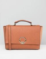Asos Satchel Bag With Metal Lock