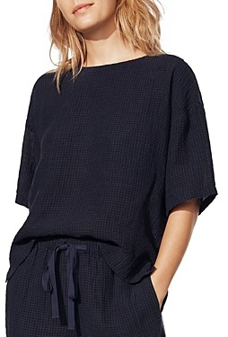 Eileen Fisher Organic Linen Boxy Top