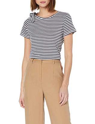Off-White Yargıcı Womens 9YKTS9006X Regular Fit Round Collar Short Sleeve T - Shirt Small