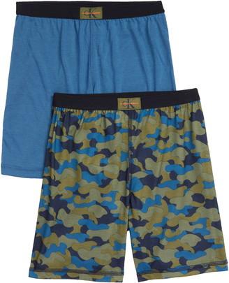 Calvin Klein 2-Pack Knit Pajama Shorts