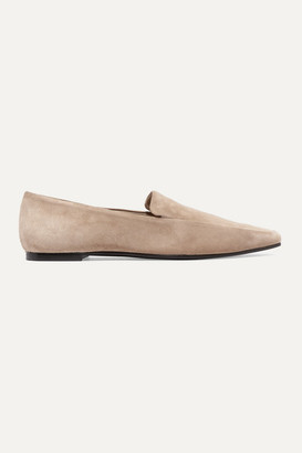 The Row Minimal Suede Loafers - Beige