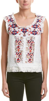Corey Lynn Calter Goya Lace Embellished Top