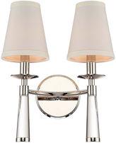 Crystorama Baxter 2-Light Bronze Sconce, Nickel