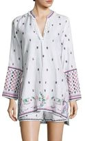 Calypso St. Barth Nydiara Embroidered Tunic Top