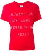 Zoe Karssen always on my mind print T-shirt