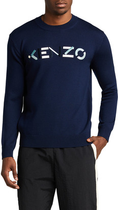 Kenzo Men's Wool Logo Sweater