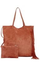 AllSaints Club New Lea Fringe Leather Tote