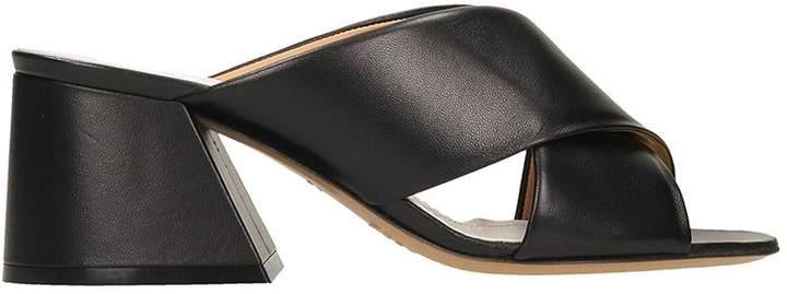 Maison Margiela Black Leather Sandals