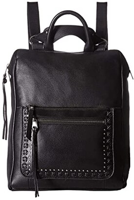 The Sak Loyola Leather Convertible Backpack (Black) Backpack Bags