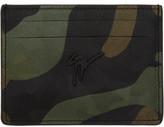 Giuseppe Zanotti Multicolor Camo Logo Card Holder