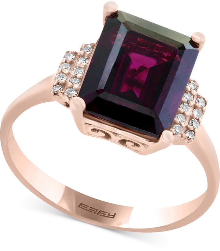 Effy Bordeaux by Rhodolite Garnet (3-3/8 ct. t.w.) & Diamond Accent Ring in 14k Rose Gold