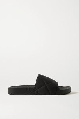 Bottega Veneta Embossed Rubber Slides - Black