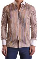 Bikkembergs Men's Multicolor Cotton Shirt.