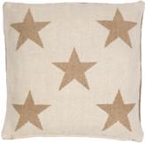 Dash & Albert Star Cushion - Camel - 56x56cm