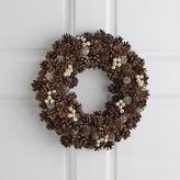Crate & Barrel Jingleberry Small Pinecone Wreath