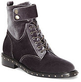 Vince Camuto Talorini Velvet Studded Combat Boots