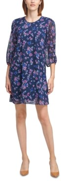 Calvin Klein Floral-Print Shift Dress