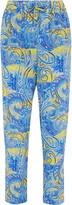 Etro Printed silk-crepe pants