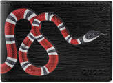 Gucci Snake print leather wallet