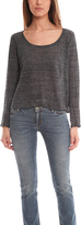 Enza Costa Cropped Long Sleeve Scoop Shirt