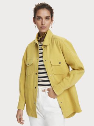 Scotch & Soda Longer length long sleeve suede jacket | Women