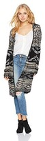 Thumbnail for your product : Angie Women's Aztec Print Open Long Sleeve Cardigan