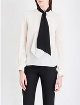 Lanvin Tie-neck silk-georgette blouse