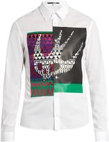 McQ by Alexander McQueen Masai Fair Isle Swallow-print cotton shirt