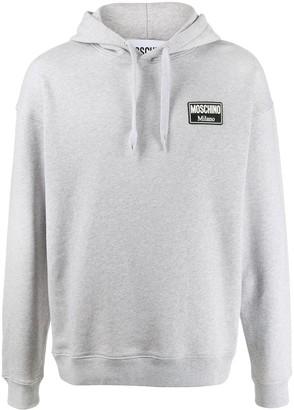 Moschino Milano logo-patch hoodie