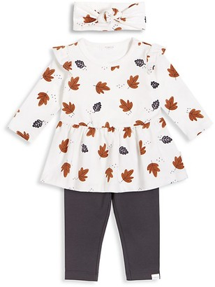 FIRSTS BY PETIT LEM Baby Girl's 3-Piece Central Park Dress, Leggings & Headband Set