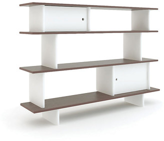 Oeuf Mini Bookshelf - White/Walnut