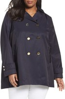 Tahari Plus Size Women's A-Line Trench Coat With Hood