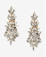 Express multi-stone cluster drop earrings