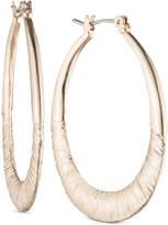 Nine West Textured Hoop Earrings