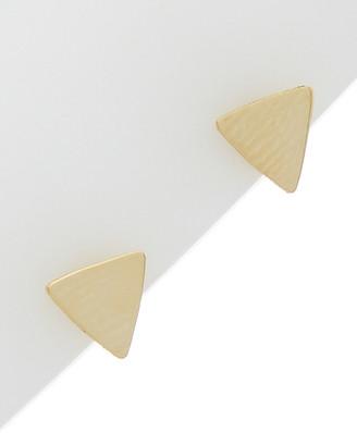 Italian Gold 14K Polished Triangle Studs