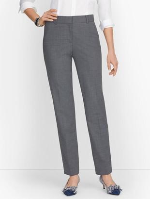 Talbots Luxe Wool Straight Leg Pants - Grey Melange - Curvy Fit