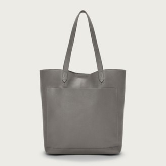 The White Company Leather Shopper Bag, Dark Grey, One Size