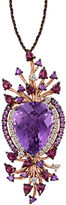 LeVian Amethyst And 14K Strawberry Gold Pendant Necklace