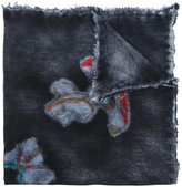 Avant Toi abstract print knitted scarf - women - Silk/Cashmere - One Size