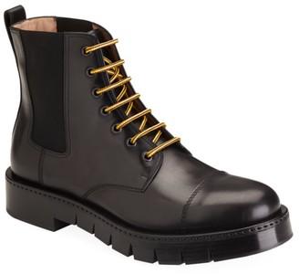 Salvatore Ferragamo Rosco Leather Ankle Boots