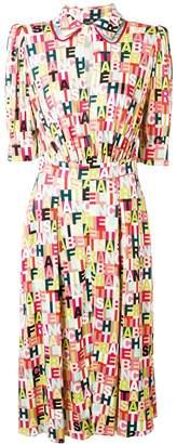 Elisabetta Franchi logo print midi dress