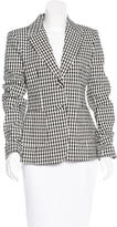 Altuzarra Gingham Notch-Lapel Blazer w/ Tags