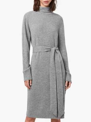 AllSaints Roza Merino Wool Blend Jumper Dress