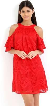 Red Shift Dress