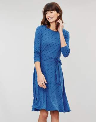 Joules MONICA Long sleeve waisted jersey dress