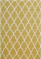Cornermill Ida Wool Durries Rug, Light Yellow 160 x 230cm